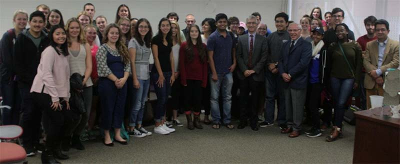 Students attend presentation by representative of Consulate