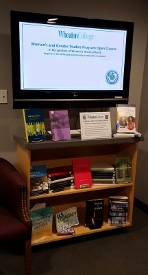 Wallace Library Women's History Month Display in the New Book Area